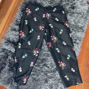 Nice Lilly Pulitzer 100% Silk Black Floral Size…